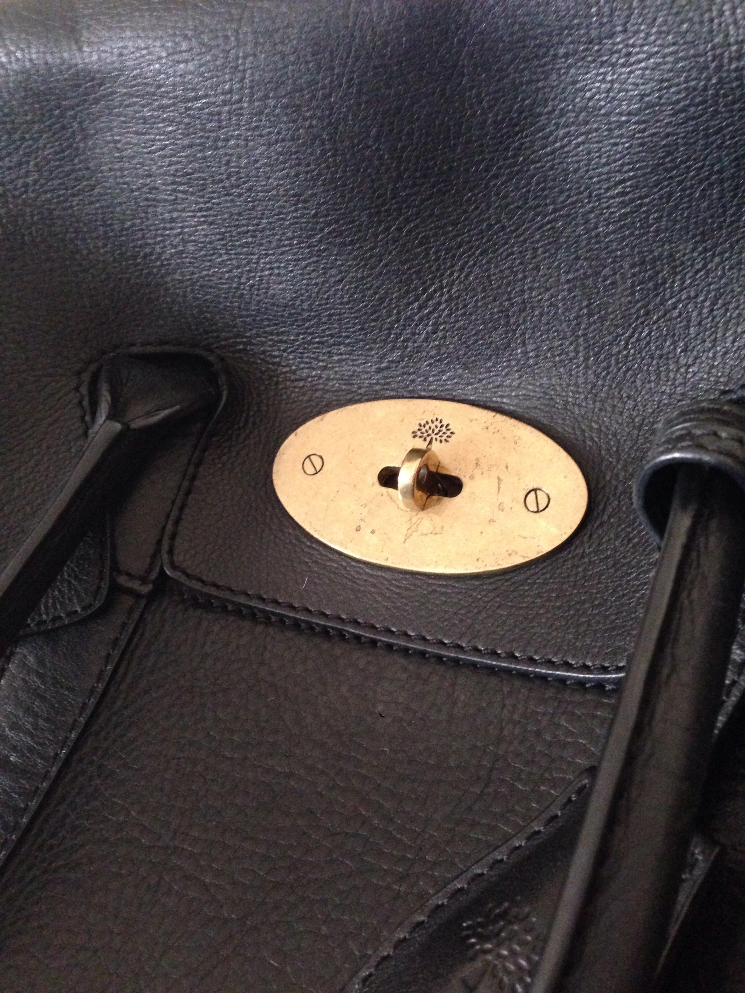 ... purchase mulberry bayswater handbag in black pebbled leather hewi  london 972ee e6039 74950973ac636