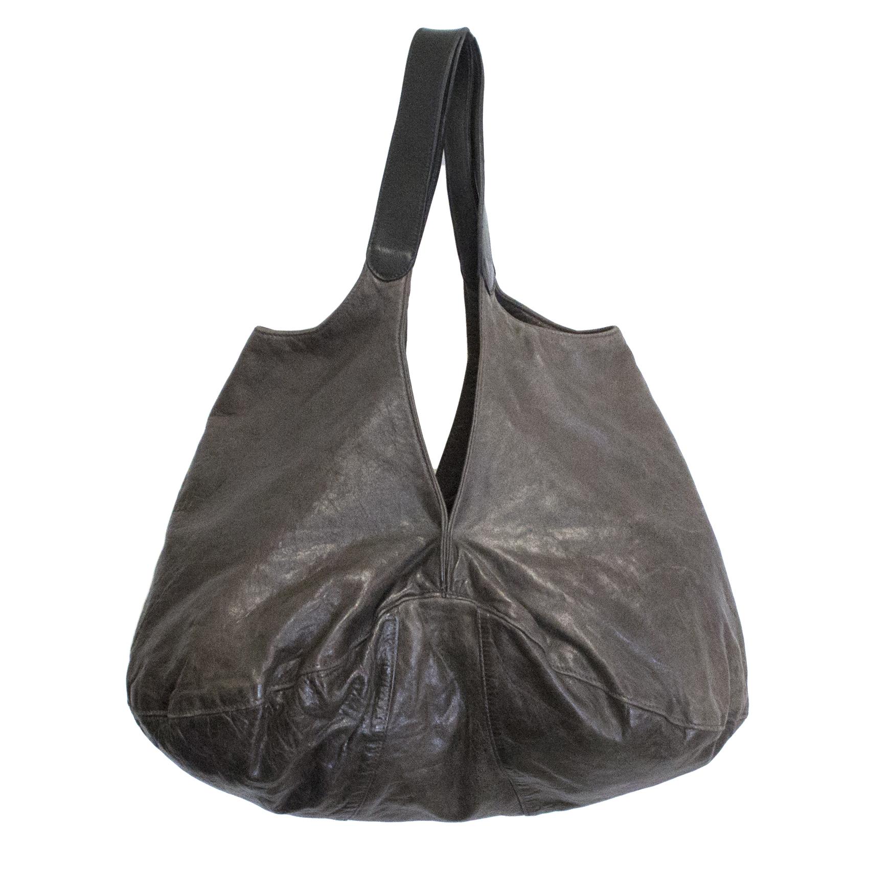 Zero + Maria Cornejo brown leather handbag