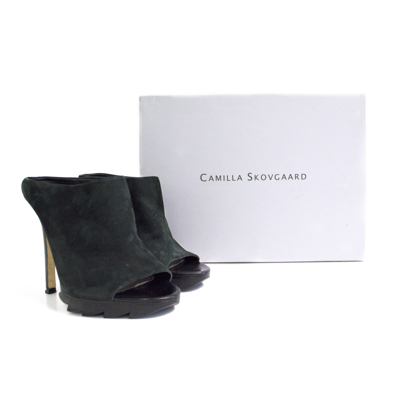 Camilla Skovgaard black Saw mules