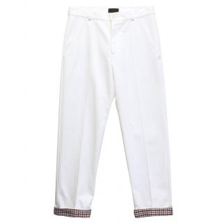 B Store white cotton trousers