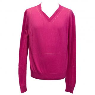 Kris Van Assche pink sweater