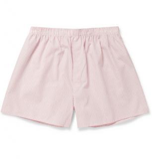 Sunspel pink striped boxer shorts