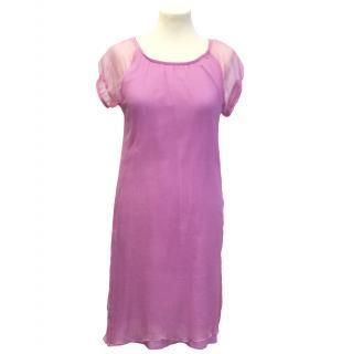 Toi du Monde pink silk dress