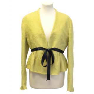 Aquascutum yellow wool jacket