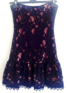 The Kooples black lace bandeau cocktail dress
