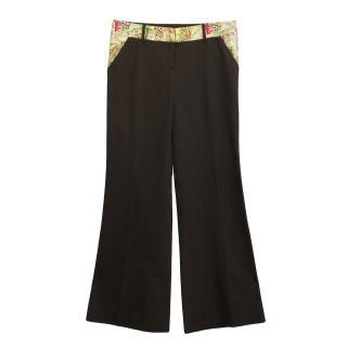 Diane von Furstenberg brown Catesby trousers
