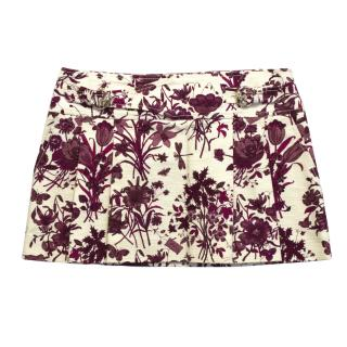 Gucci floral mini skirt