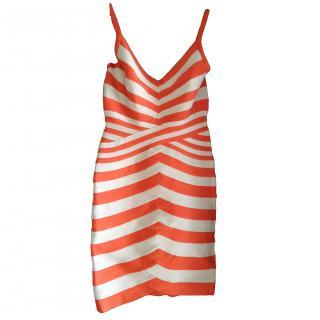 Herve Leger striped dress