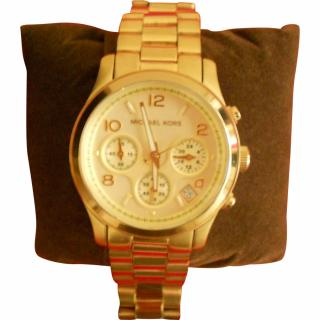 Michael Kors Gold Metal Chronograph Classic Watch