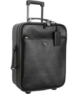 PRADA Saffiano leather rolling luggage