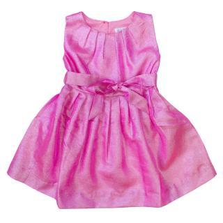 Rachel Riley girls pink iridescent skater dress