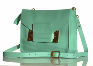 NWT SOPHIE HULME mint green  mini envelope bag