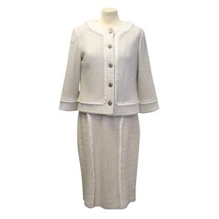 St. John beige jacket and dress