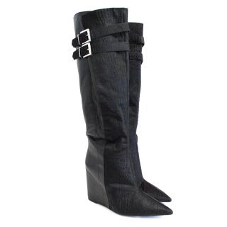 Aldo Rise by Preen pony hair black boots