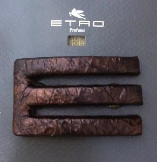 Etro Leather Hair Clip .