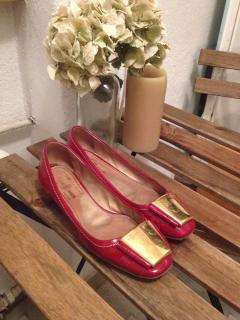Red patent-leather shoes from CAR SHOE