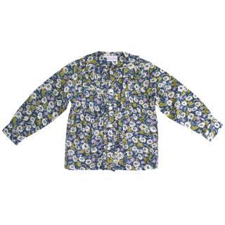 Rachel Riley floral ruffle shirt