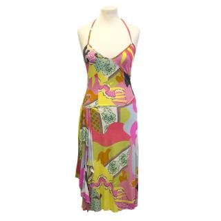 Christian Lacroix halter neck dress