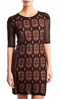 Dagmar Dita brown knitted dress