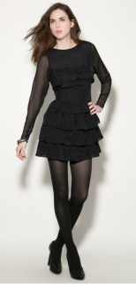 Twenty8Twelve black ruffle Rudy dress
