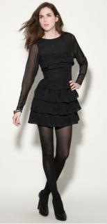 Twenty8Twelve black ruffle Rudy dress