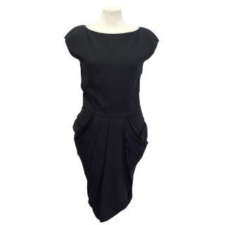 Twenty8Twelve black Titon sculpted pocket dress