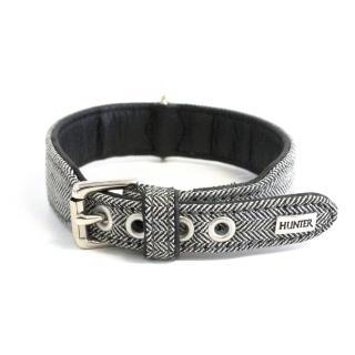 Hunter black and white chevron dog collar