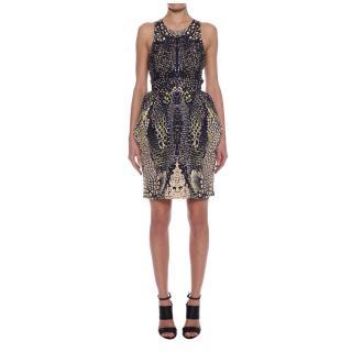 Alexander McQueen MCQ Kaleidoscope Crocodile Party Dress Spring/Summer 2014 BNWT