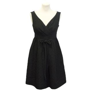 Moschino black textured skater dress