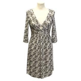 Roberto Cavalli cream patterned dress