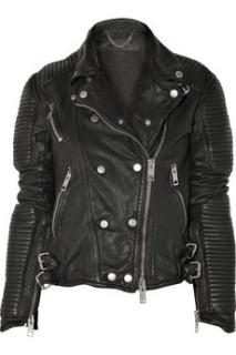 Burberry Prorsum black leather biker jacket - NEW