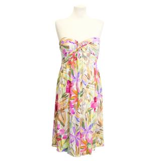 Blumarine silk floral dress