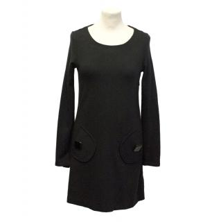 Tibi black jumper dress
