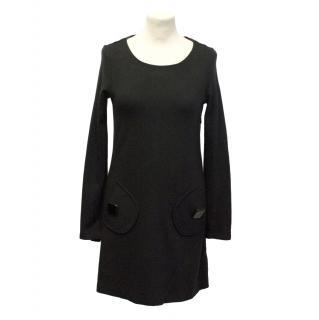Tibi black jumper dress