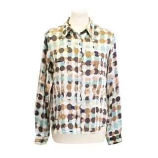 Gerard Darel silk printed shirt