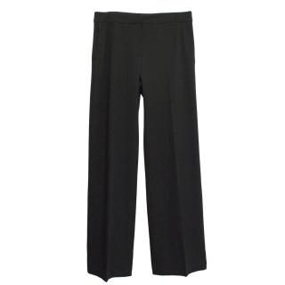 Sportmax black wool mix wide leg trousers