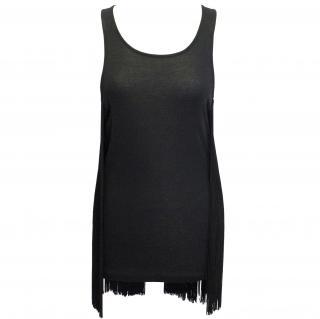 Stella McCartney black fringe top