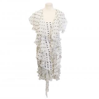 Emanuel Ungaro polka dot dress and scarf