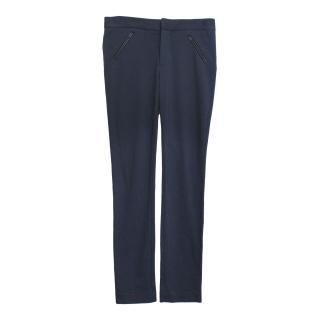 Catherine Malandrino skinny cut stretch navy trousers