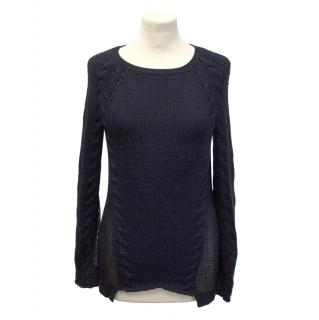 Finders Keepers navy knit jumper