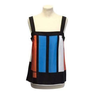 Jaeger silk striped top