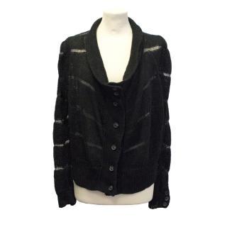 Ann Demeulemeester black knit cardigan