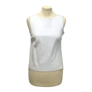 Le Set white leather tank top