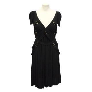 Temperley London black strappy detail dress