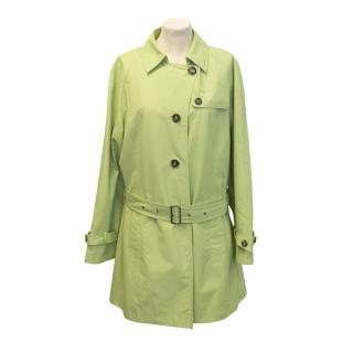 Artigiano green trench coat
