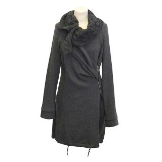 Siste's grey wool coat