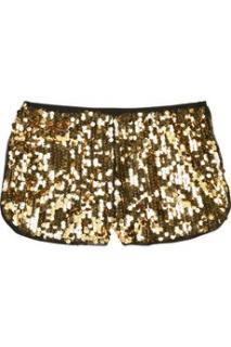 Anna Sui Gold Sequin Shorts