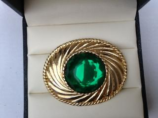 Emanuel Ungaro Rare Gold Plated Brooch