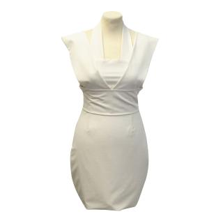 Aqua cream dress