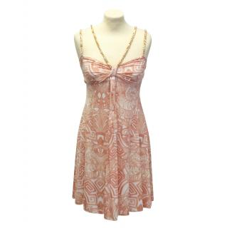 Les Copains peach printed dress
